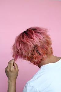 pexels.com photo of a man with pink hair