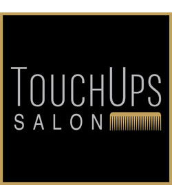 touchups salon logo