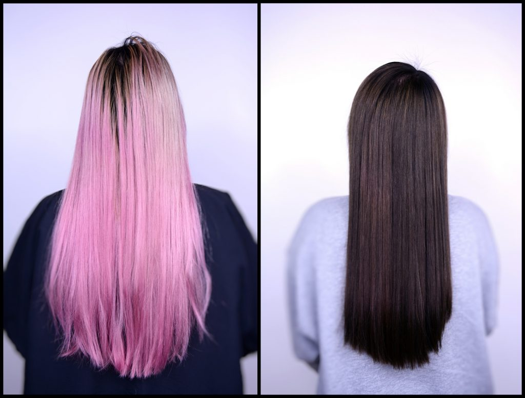 Before (left) and after (right) of a color correction by Courtney.