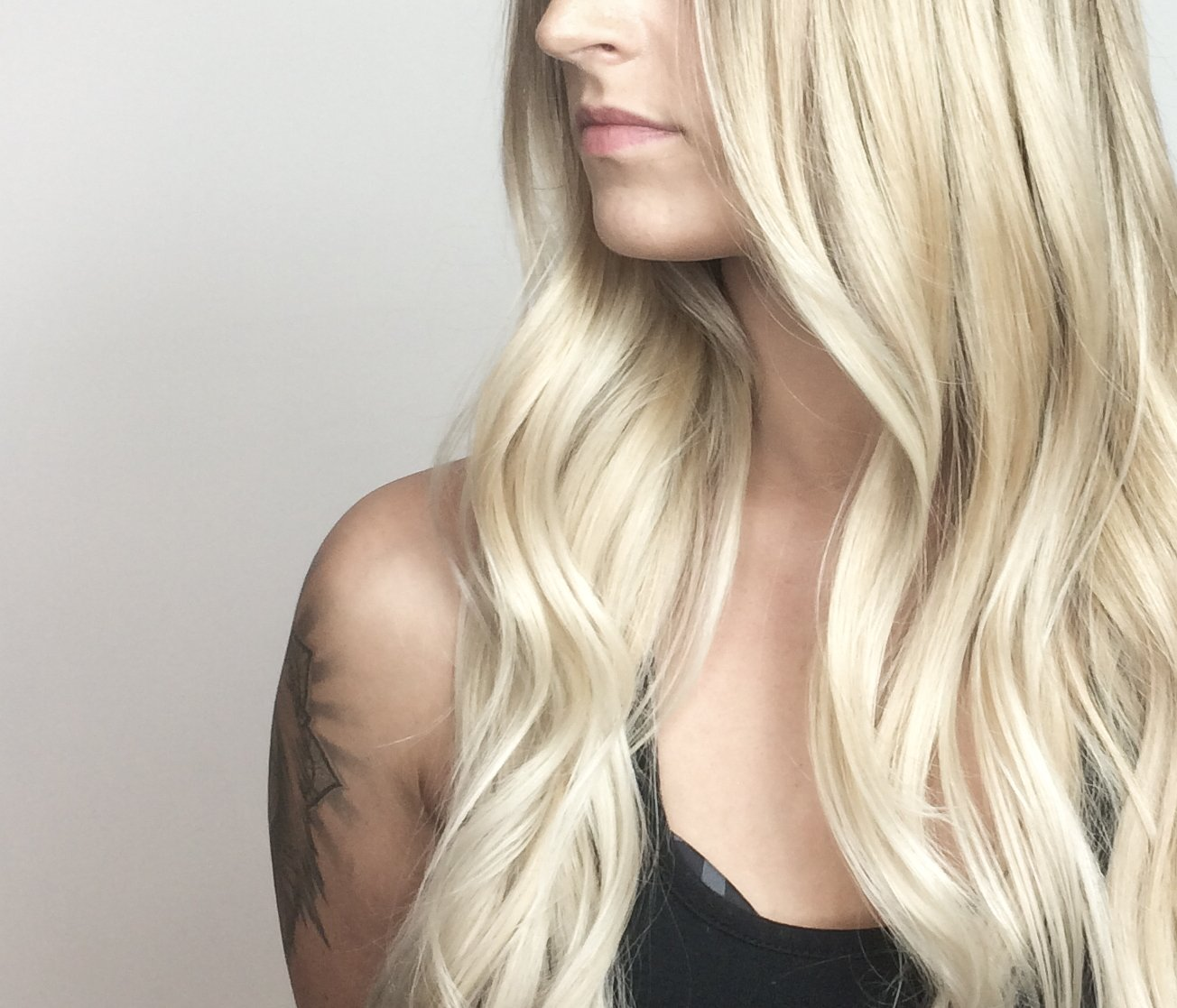 Close up of blonde